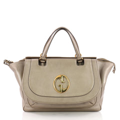 Gucci 1973 Top Handle Bag Leather Medium Neutral 3556402