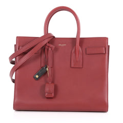 Saint Laurent Sac de Jour NM Handbag Leather Small Red 3558301