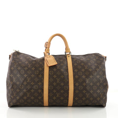 Louis Vuitton Keepall Bag Monogram Canvas 55 Brown 3560603