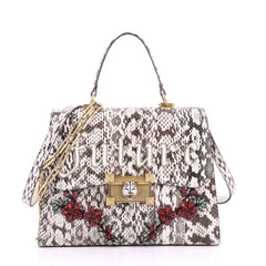 Gucci Osiride Top Handle Bag Embellished Snakeskin Medium 3563308