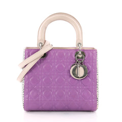 d9534d2137c8 Christian Dior Lady Dior Handbag Cannage Quilt Lambskin with Python Medium  3563501