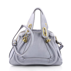 Chloe Paraty Top Handle Bag Leather Small Blue 3564704
