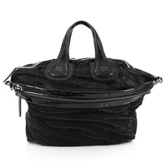 Givenchy Nightingale Satchel Calf Hair Medium Black 3565401