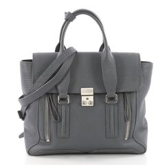 3.1 Phillip Lim Pashli Satchel Leather Medium Gray 3565901