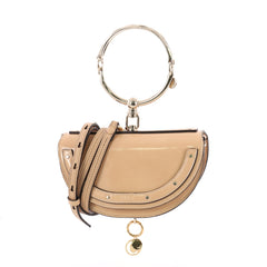 Chloe Nile Crossbody Bag Patent Mini Neutral 3566402