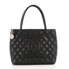 Chanel Medallion Tote Quilted Caviar Black 3567617