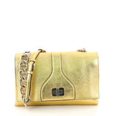 Prada Turnlock Flap Chain Bag Leather Small Gold 3567630
