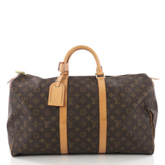 Louis Vuitton Keepall Bag Monogram Canvas 50 Brown 3567636