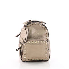 Valentino Rockstud Backpack Leather Mini Brown 3571702