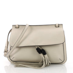 Gucci Bamboo Daily Flap Bag Leather White 3572501