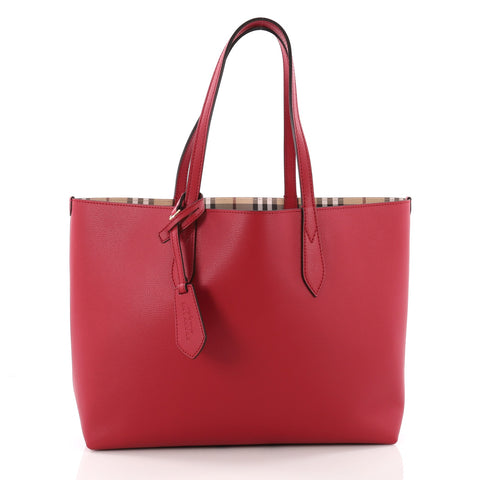 543f937afdcb Buy Burberry Reversible Tote Haymarket Coated Canvas and 3573703 – Rebag