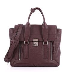 3.1 Phillip Lim Pashli Satchel Leather Medium Purple 3575101