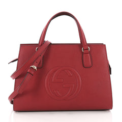 Buy Gucci Soho Convertible Top Handle Satchel Leather Medium 3575602