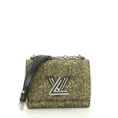 Louis Vuitton Twist Handbag Limited Edition Chevron Printed Epi Leather PM Gold 3575704