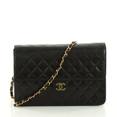 Chanel Vintage Clutch with Chain Quilted Leather Medium 3575746