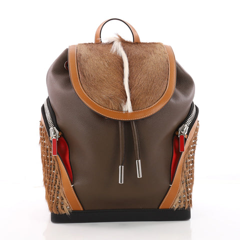 6e5e760eff93 Buy Christian Louboutin Explorafunk Backpack Spiked Leather 3577001 – Rebag
