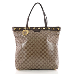 Gucci Babouska Tote GG Coated Canvas Tall Brown 3577202