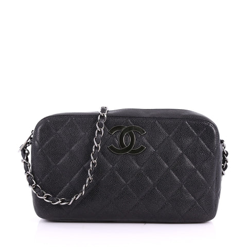 ffe8c1fdaa5d Buy Chanel Vintage CC Camera Bag Quilted Caviar Medium Black 3577203 – Rebag
