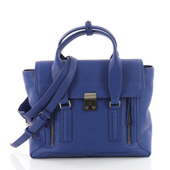 3.1 Phillip Lim Pashli Satchel Leather Medium Blue 3578301