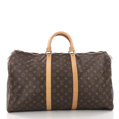 Louis Vuitton Keepall Bag Monogram Canvas 55 Brown 3579412