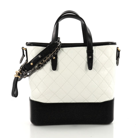2abed0fa356c Chanel Gabrielle Shopping Tote Quilted Calfskin Medium White 3579413 – Rebag