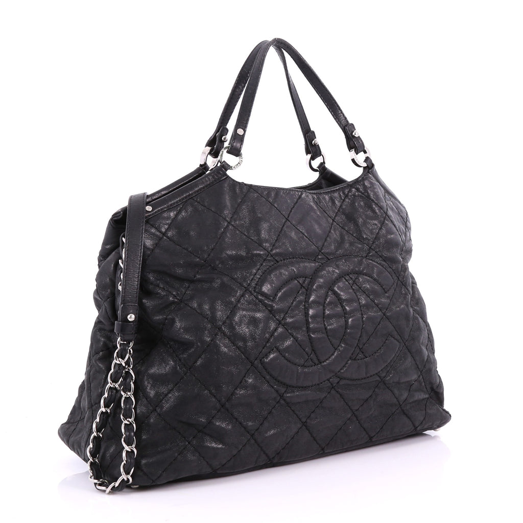 6fe874cb336c Chanel CC Sea Hit Tote Quilted Iridescent Calfskin Large 3580508 – Rebag
