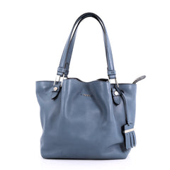 Tod's Flower Bag Leather Medium Blue 3581001