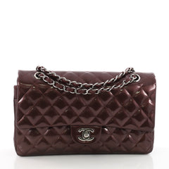 Chanel Classic Double Flap Bag Quilted Striated Metallic 3581202
