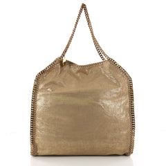 Stella McCartney Falabella Tote Canvas Large Gold 3581601