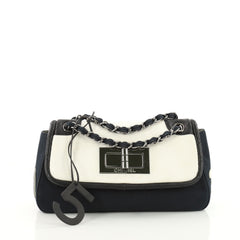 Chanel No.5 Giant Mademoiselle Lock Flap Bag Canvas with 3584101