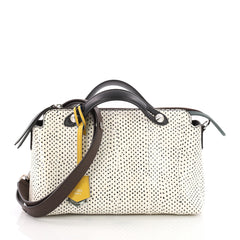 Fendi By The Way Satchel Hand Painted Watersnake Small White 3584802