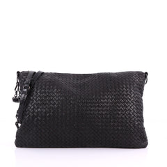 Bottega Veneta Convertible Hobo Intrecciato Nappa Large Black 3584804