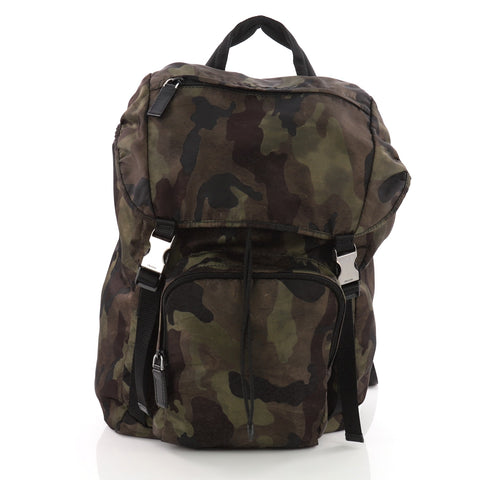 93eb2f59b557 ... sale buy prada camouflage backpack tessuto large green 3586502 rebag  55594 b8d61