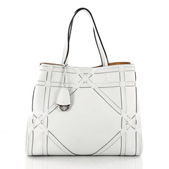 Christian Dior Open Tote Giant Cannage Woven Leather White3589504