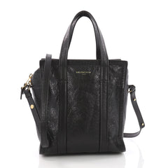 Balenciaga Bazar Convertible Tote Leather XS Black 3593701