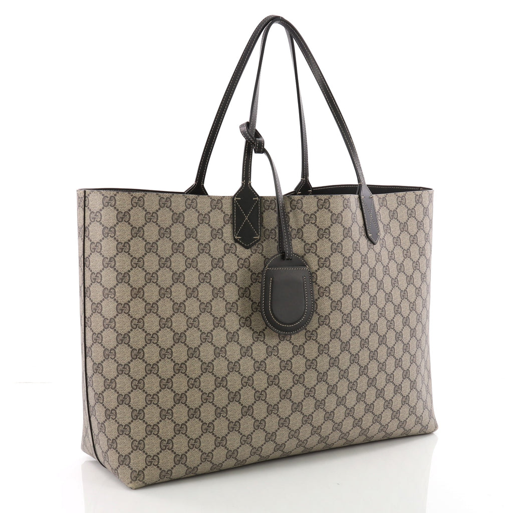 586c4f65d0b Buy Gucci Reversible Tote GG Print Leather Large Brown 3594101 – Rebag