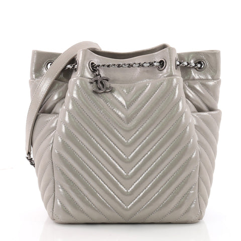 d792c7ea4c8e Buy Chanel Urban Spirit Drawstring Bag Iridescent Chevron 3594302 – Rebag