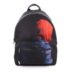 Christian Dior Homme Backpack Printed Canvas Black 3595001