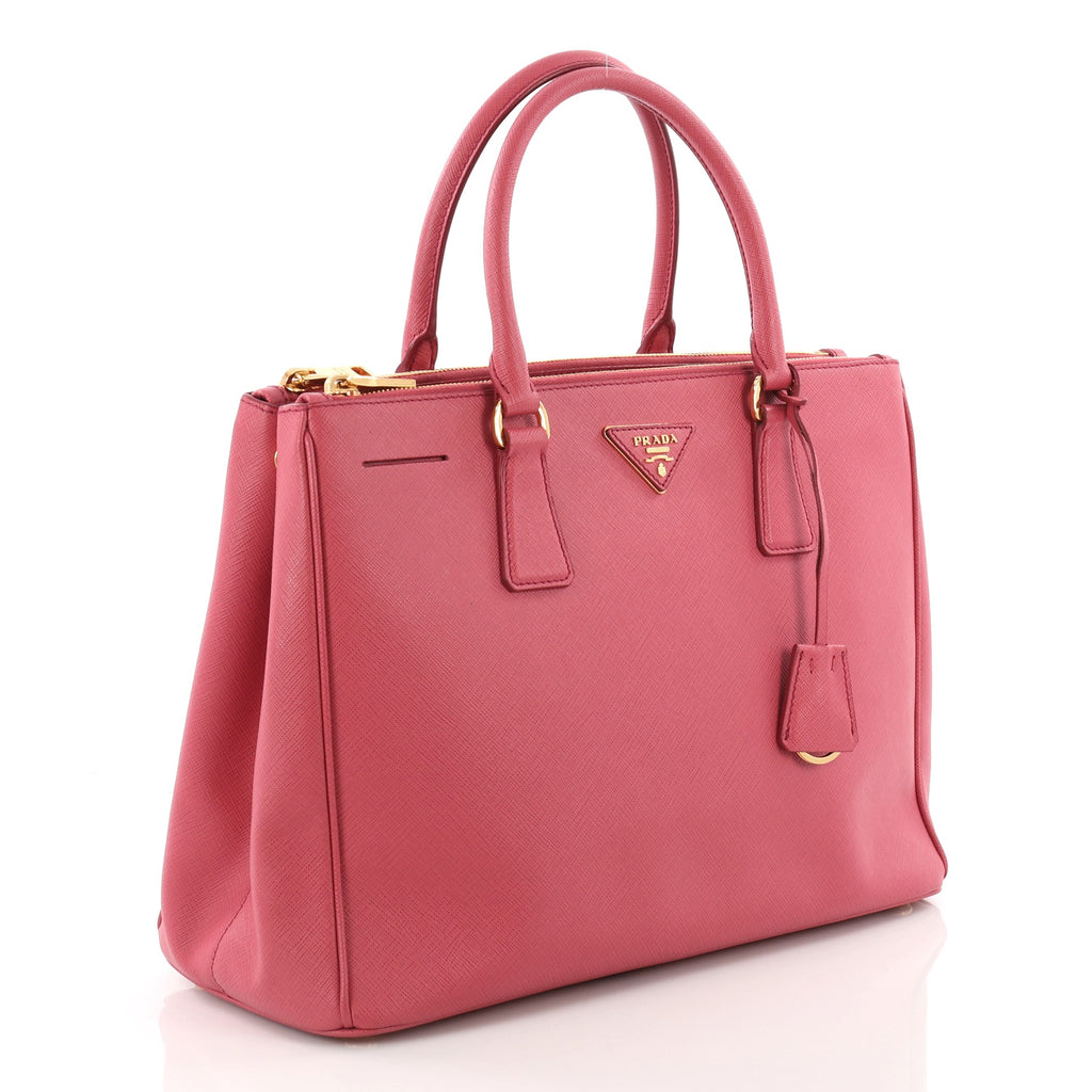 bb85768ea6e6 ... uk buy prada double zip lux tote saffiano leather medium pink 3595501  86034 71825