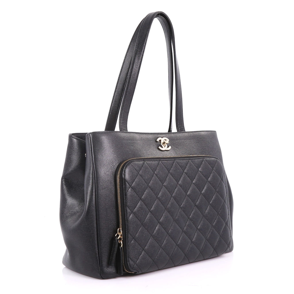 881435295c00 Chanel Business Affinity Tote Quilted Caviar Large Black 3598107 – Rebag