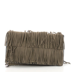 Stella McCartney Falabella Fringe Flap Clutch Faux Suede 3598401