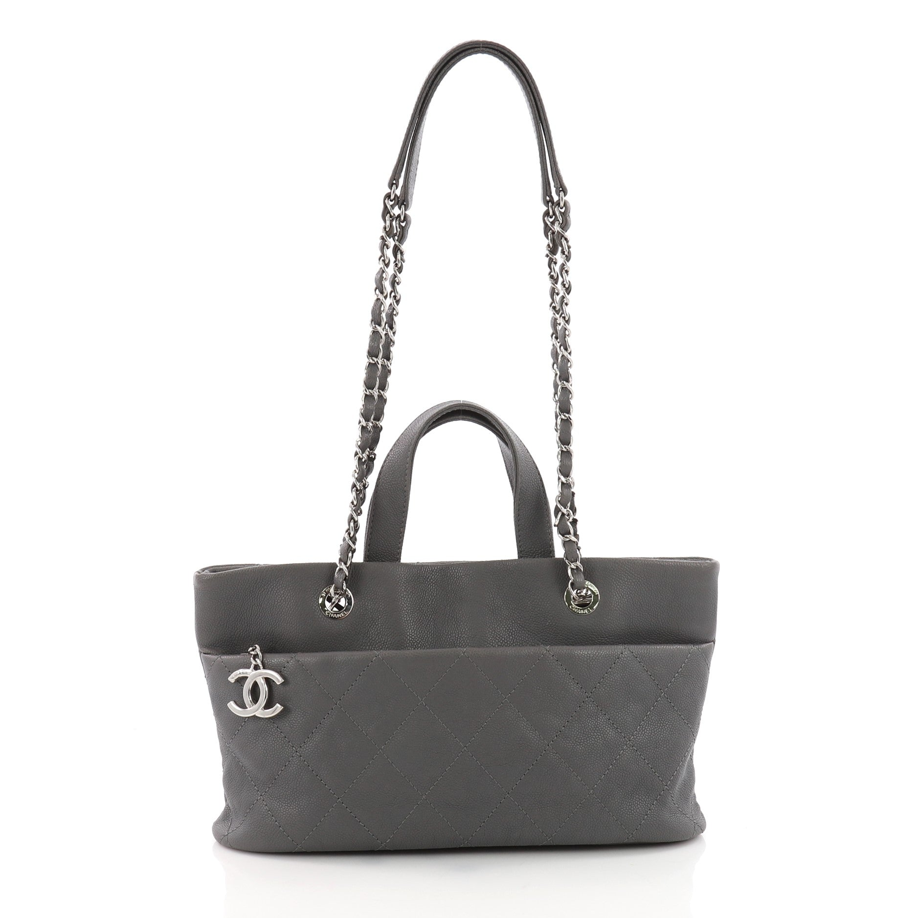 5341890dce69 Chanel Timeless CC Charm Tote Quilted Caviar Large - Rebag ...