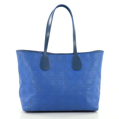 Christian Dior New Panarea Tote Cannage Stitched Rosato Blue 3599605