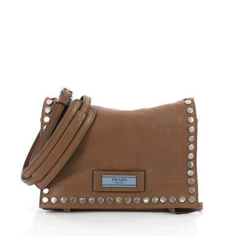 aded69fc41 Etiquette Flap Bag Studded Glace Calfskin Small