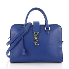 Saint Laurent Monogram Cabas Leather Small Blue 3601105