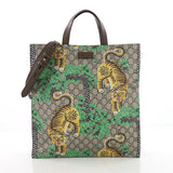 Gucci Convertible Soft Open Tote Bengal Print GG Coated 3602702
