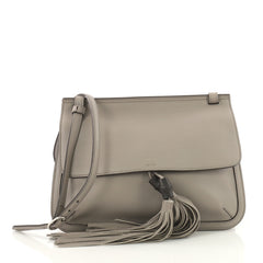 Gucci Bamboo Daily Flap Bag Leather Gray 3604101