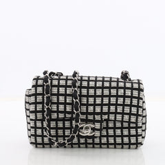 Chanel Classic Single Flap Bag Printed Canvas with 3606109