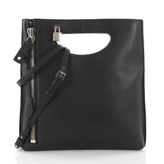 Tom Ford Alix Fold Over Crossbody Bag Leather Black 3608202