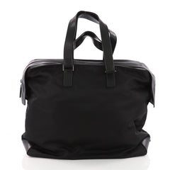 Prada Zip Duffle Bag Tessuto Large Black 3609701